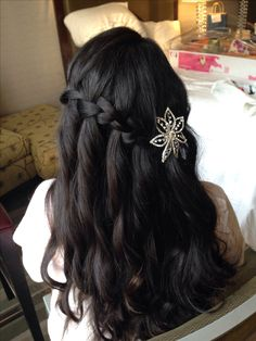 Cascade/Waterfall Braid: Hairstyles, Beautiful Short Hair, Medium length Down Do and Up Dos for Weddings and Special Occasions by Zaza Makeup  Hair - Based in NY / Available Nationwide