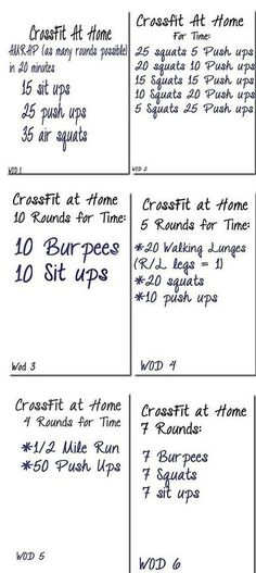 Crossfit circuit workout