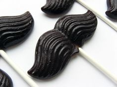 Mustache on a stick hard candy lollipops  6 by VintageConfections, $12.00