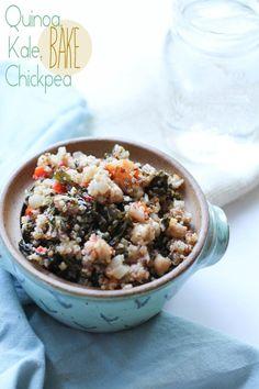 Quinoa Kale Chickpea Bake lentil, chickpea bake