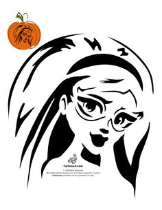 Monster High Pumpkin Carving Patterns Ghoulia Yelps Monster High Pumpkin Carving – Cartoon Jr.