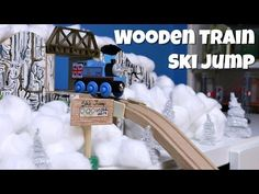 Wooden Train Ski Jump -- Thomas & Friends Winter Olympics Sodor 2014