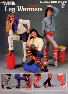 Vintage 1982 Knitted Leg Warmers pattern book