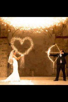 Creative wedding photo.