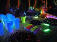Glow In The Dark Party Table
