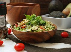Multiply Delicious- The Food | Chicken Veggie Salad with Avocado Herb Dressing