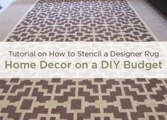 Home Decor DIY stenciled rug.  >> http://www.cuttingedgestencils.com/stenciling-instructions.html    #cuttingedgestencils #stencils #homedecor #interiordesign
