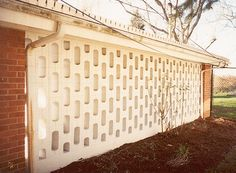decorative carport block wall The Richards House 249 Whitehall Road 1956