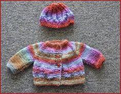 """18"""" Doll Sweater & Hat - free knit pattern -  Crystal Palace Yarns"""