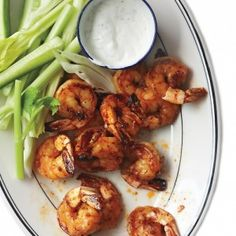 Healthier Super Bowl Snacks~ Buffalo Shrimp from Martha Stewart|Craving Something Healthy