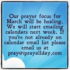 March Healing Calendar (coming soon)