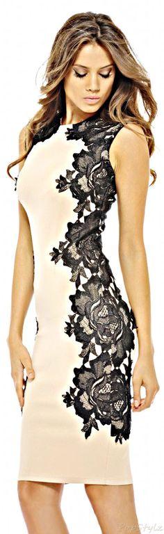 Adorable black floral embellished dress