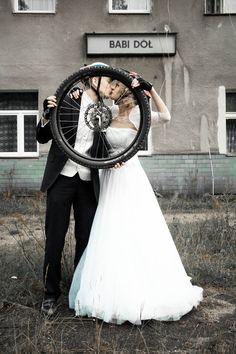Bike wedding session 2 by NoirAnge88