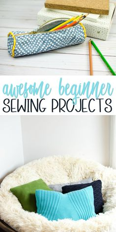 If you are a beginner and you are looking for some really great but easy projects to sew, this post is for you. Don't worry. We've got you covered! Whether you  are a sewing pro or just a beginner, these Awesome Beginner Sewing Projects are  a must try to make. #sewing  #sewingideas #sewingprojects #easysewingideas #sewingprojectsforbeginners  #sewingforbeginners #sewingprojectsforteens #easysewingideas #sewingtips