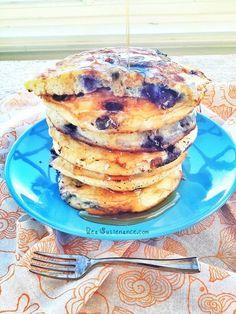 Extra Fluffy Coconut Flour Blueberry Pancakes.     (Gluten/Grain/Nut/Seed/Dairy/Sugar Free)