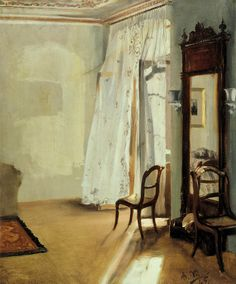 'Das Balkonzimmer' (The Balcony Room) by Adolph Menzel, 1845.