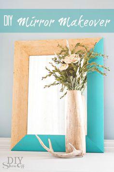DIY mirror makeover at diyshowoff.com