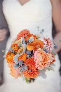 Orange and gray bouquet