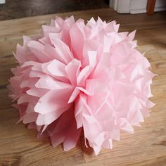 How to Make Tissue Paper Pom Poms. Easy Party Decor for Bridal Showers, Baby Showers and Birthdays {From Small Home Big Start}