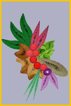 beautiful quilled spray of flowers
