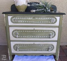 Hand Painted Vintage Wash Stand