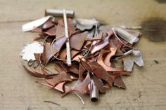 Lynette Andreasen: Shibuichi: Detailed blog on how to make it yourself  ||   Shibuichi is a Japanese alloy of silver and copper.  It can range anywhere between 5% silver to 50% silver with the rest being copper.  It works wonderfully, reticulates to amazing textures, and casts well.