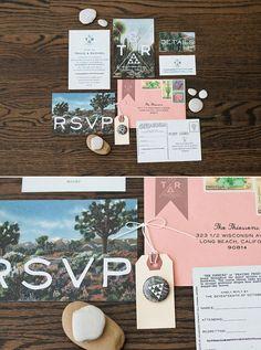 joshua tree wedding invite
