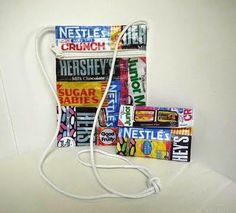 Candy Wrapper themed bag and wallet. Back to school cool!