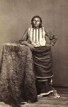 Big Tree, Kiowa Chief, photographed by W. P. Bliss, Portrait and View Photographer, ca. 1870s. Part of the Lawrence T. Jones III Texas photography collection. Series 7: Stereographs.