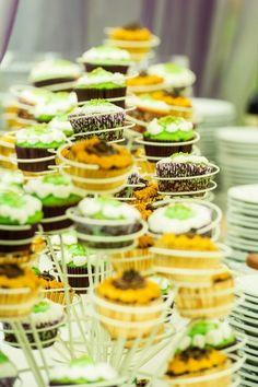 Unique cupcake display.