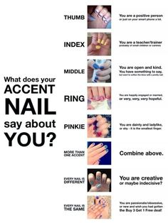 Fun! What does your accent nail say about you??  www.jenrelph.jamberrynails.net