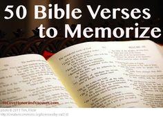 50 Bible Verses to Memorize