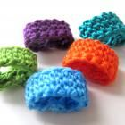 crochet toe, toe rings
