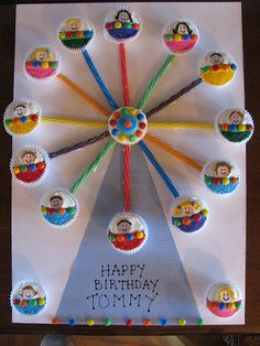 Ferris Wheel Cupcakes from Lucy Blue Bakery