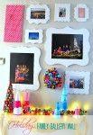galleri wall, christma edit, christma fun, wall galleri, famili galleri