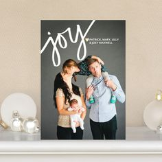 Joyous Heart - Flat Holiday Photo Cards in White or Red Lantern | Jill Smith