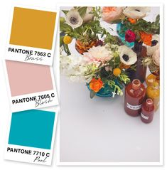 Yellow, Blush Pink and Blue Color Palette | Sarah Hearts