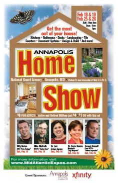 "Come see us and meet Damon Bennett from ""Holmes on Homes"" at the Annapolis Home and Remodeling Expo!"