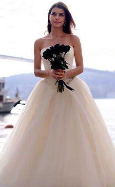 """Beren Saat, in #VeraWang Wedding Dress - """"Intikam"""" TV Series 2013/2014."""