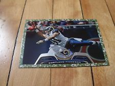 2013 Topps #307 CORTLAND FINNEGAN Military Camo Parallel Card Numbered 011/399