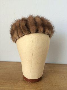 vintage fur hat by BlueEyedOwl on Etsy, $18.00