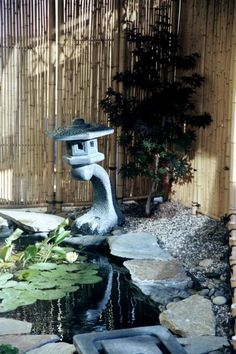 koi pond- this with small waterfall