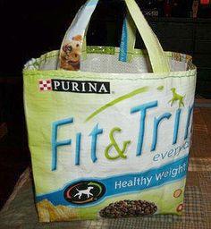Recycled dog food bag!
