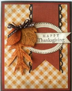 Happy Thanksgiving Card...with acorns & leaves.