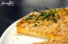 butternut squash tart with caramelized onion - from a farmgirl's dabbles