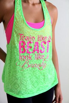 Train Like a BEAST Look Like a BEAUTY in Neon Green