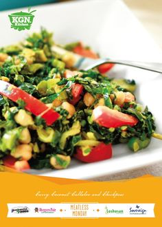 Curry Coconut Callaloo and Chickpeas from our #MeatlessMonday friends in Jamaica!