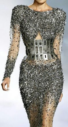 Zuhair Marad-It's Metal Madness!!  Love the belted Metallic Effect!!