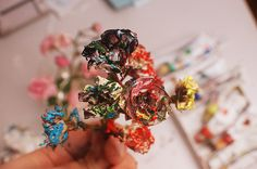 paint and dried flowers?! I say, yes!