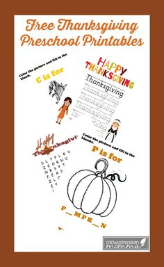 With Thanksgiving just days away, it is time to take advantage of these Free Preschool Language Printables with your child.  Not only can you encourage them to complete these basic activities, you will be enforcing that school is fun.